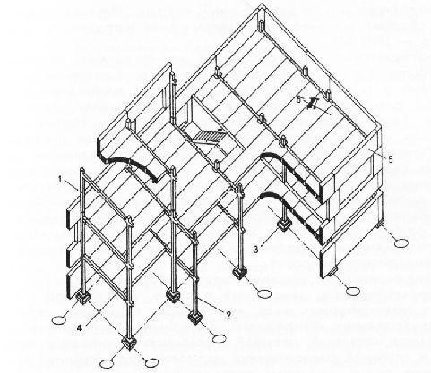 Конструктивная схема каркасных