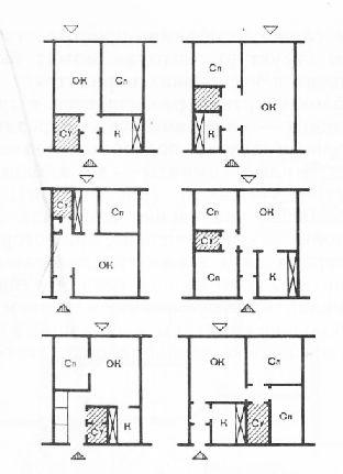 Схемы планировок квартир