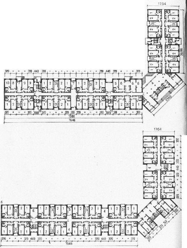 Девятиэтажное общежитие на