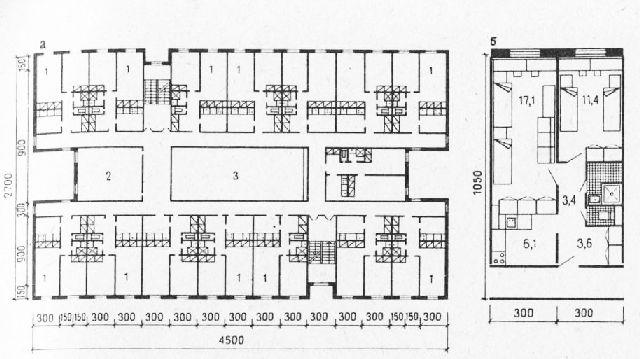 Пятиэтажное общежитие на 360