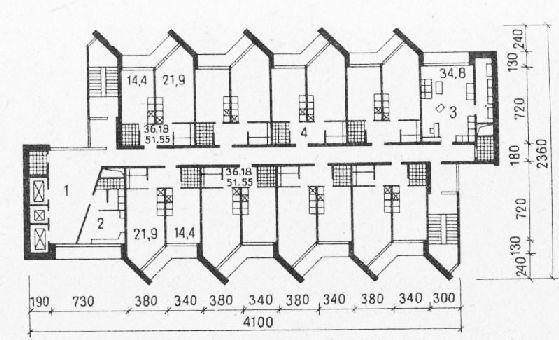 Проект 20-этажного общежития