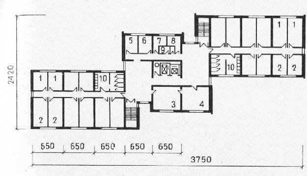 Общежитие на 400 человек.