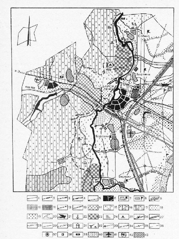 Схема районного центра